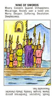 初學者塔羅牌 - Starter Tarot - 寶劍九 - Nine Of Swords - 塔羅牌圖片精選