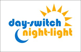 Logo for light switch that becomes a night-light when the light is off