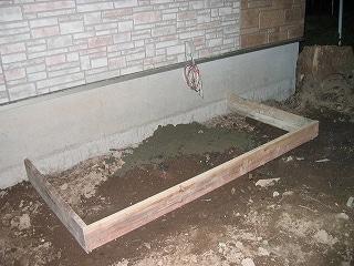 エコキュートの下地工事