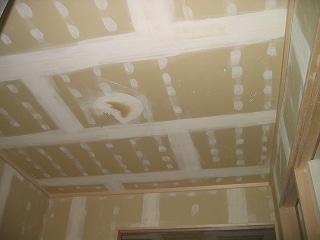 天井の下地処理