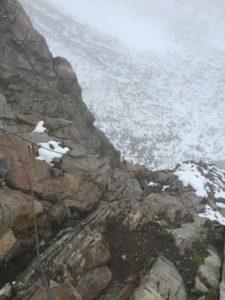 Kletterpassage zur Darmstädter Hütte