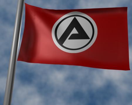 Standbild aus dem satirischen Video: Die Flagge des Vierten Reiches