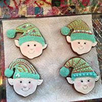 Honey Gingerbread Elf Cookie happy face