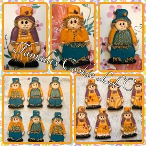 Halloween Scarecrow Cookies
