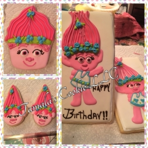 Troll Birthday Cookie