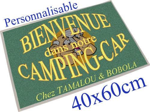 paillasson tapis tamalou camping car personnalisable tamalou et bobola