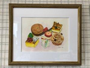 沖縄ハーバービューホテル様のケーキイラストを描かせていただきました