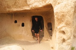Cave accommodation carved into walls