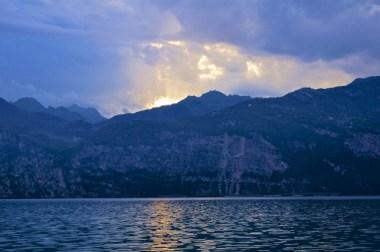 Sunset over Lake Garda