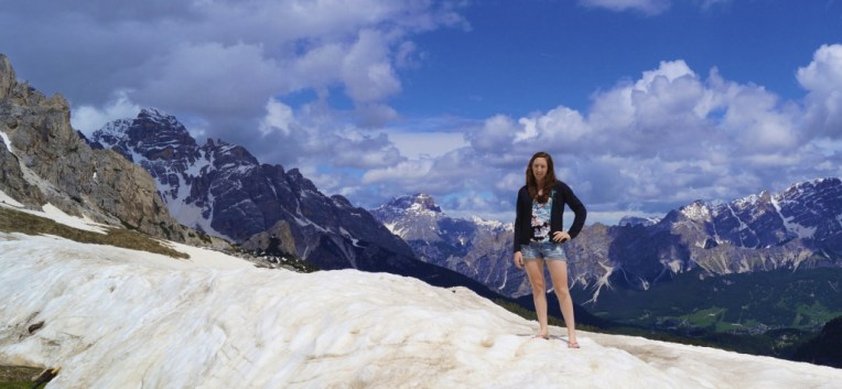 Legs as white as snow