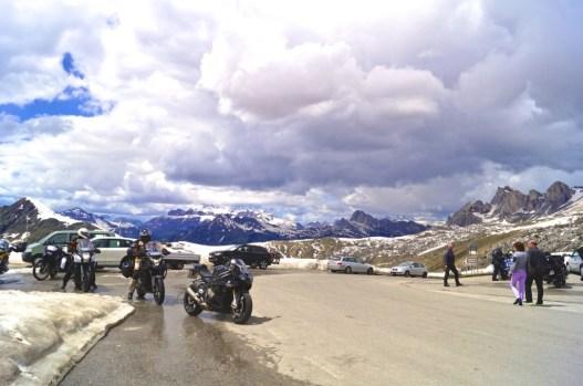 Motorcyclists take in some fresh air