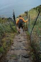Rain comes in on the Cinque Terre