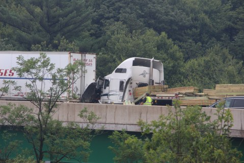 3 Tractor Trailer Accident, Mile Marker 126, Interstate 81, 7-30-2015 (1)