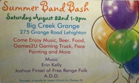 8-22-2015, Summer Band Bash, Big Creek Range, Lehighton
