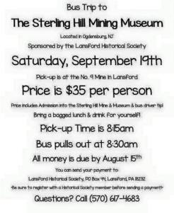 9-19-2015, Bus Trip to Sterling Hill Mining Museum, sponsored by Lansford Historical Society, Leaves No. 9 Mine, Lansford