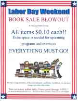 9-4 to 9-19-2015, Book Sale Blowout, Tamaqua Public Library, Tamaqua