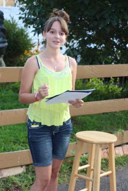 Actors Practicing for Dear Tamaqua, Tamaqua, 7-22-2015 (4)