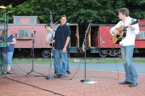 Amanda & Me perform, as part of Chamber Summer Concert Series, Train Station, Tamaqua (64)