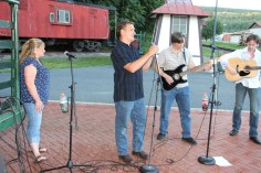 Amanda & Me perform, as part of Chamber Summer Concert Series, Train Station, Tamaqua (76)