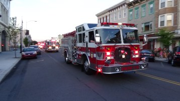 Apparatus Parade during Citz Fest, Citizens Fire Company, Mahanoy City, 8-21-2015 (202)