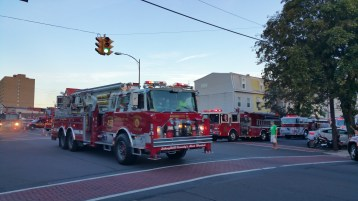 Apparatus Parade during Citz Fest, Citizens Fire Company, Mahanoy City, 8-21-2015 (25)