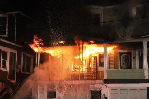 House Fire, 40-42 West Water Street, US209, Coaldale, 8-4-2015 (3)