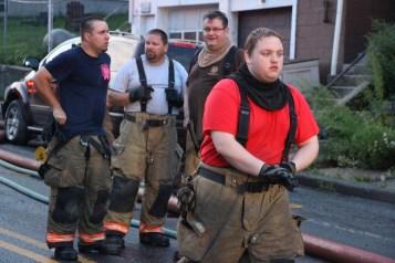 House Fire, 40-42 West Water Street, US209, Coaldale, 8-4-2015 (506)