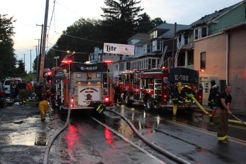 House Fire, 40-42 West Water Street, US209, Coaldale, 8-4-2015 (609)