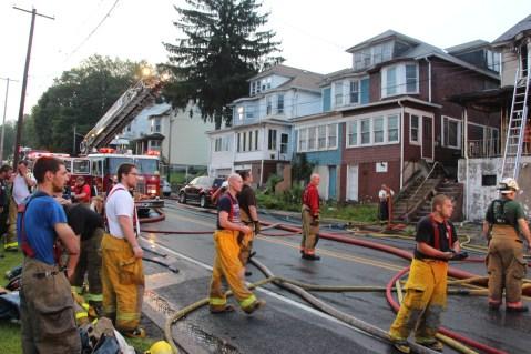 House Fire, 40-42 West Water Street, US209, Coaldale, 8-4-2015 (612)