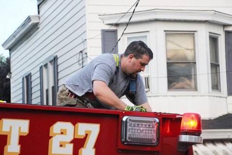 House Fire, 40-42 West Water Street, US209, Coaldale, 8-4-2015 (662)