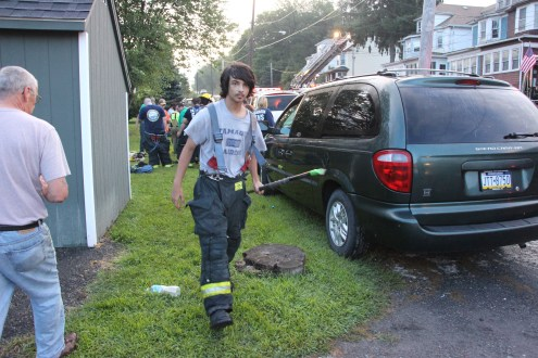 House Fire, 40-42 West Water Street, US209, Coaldale, 8-4-2015 (705)