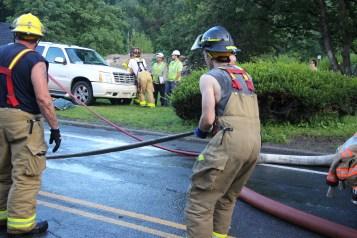House Fire, 40-42 West Water Street, US209, Coaldale, 8-4-2015 (730)