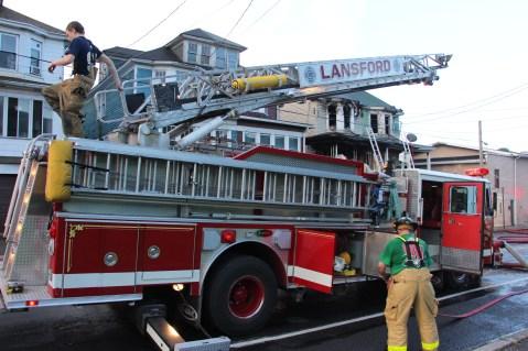 House Fire, 40-42 West Water Street, US209, Coaldale, 8-4-2015 (751)