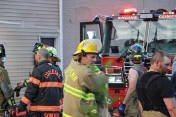House Fire, 40-42 West Water Street, US209, Coaldale, 8-4-2015 (759)