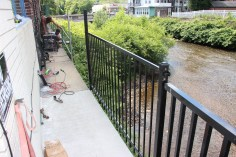 New Fence Along Little Schuylkill River, East Broad Street, Tamaqua (8)