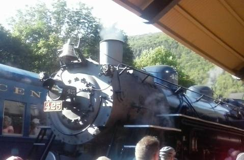 Nickel Plate Road 765, 2-8-4 Berkshire Steam Engine, from Tolan, Locomotive, Train, Jim Thorpe, 8-22-2015 (1)