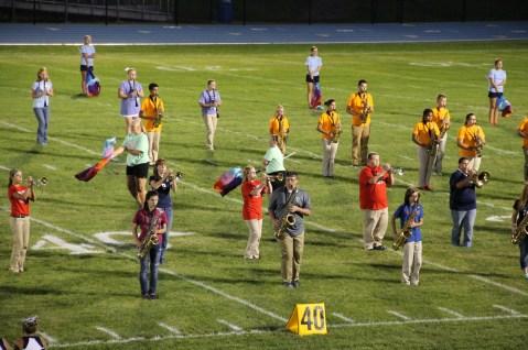 Raider Marching Band during Fall Meet The Raiders, TASD Sports Stadium, Tamaqua, 8-26-2015 (136)