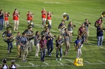 Raider Marching Band during Fall Meet The Raiders, TASD Sports Stadium, Tamaqua, 8-26-2015 (214)