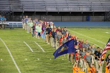Raider Marching Band during Fall Meet The Raiders, TASD Sports Stadium, Tamaqua, 8-26-2015 (45)