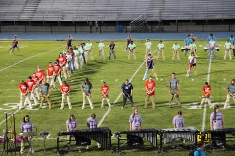 Raider Marching Band during Fall Meet The Raiders, TASD Sports Stadium, Tamaqua, 8-26-2015 (94)