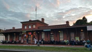 Steve Brosky & Jimmy Meyer, Tamaqua Chamber Summer Concert Series, Train Station, Tamaqua (1)