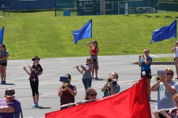 Tamaqua Raider Band Camp, Middle School Parking Lot, Tamaqua, 8-13-2015 (303)