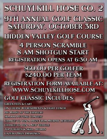 10-3-2015, 9th Annual Golf Classic, Hidden Valley Golf Course, Pine Grove