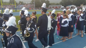 Blue Out Football Game, Benefit for Thelma Urban, Raider Band, Sports Stadium, Tamaqua, 9-4-2015 (105)