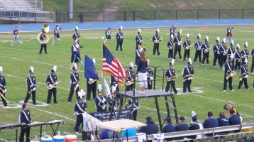Blue Out Football Game, Benefit for Thelma Urban, Raider Band, Sports Stadium, Tamaqua, 9-4-2015 (129)