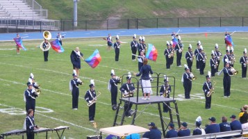 Blue Out Football Game, Benefit for Thelma Urban, Raider Band, Sports Stadium, Tamaqua, 9-4-2015 (136)