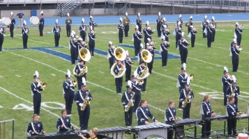 Blue Out Football Game, Benefit for Thelma Urban, Raider Band, Sports Stadium, Tamaqua, 9-4-2015 (179)