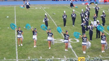 Blue Out Football Game, Benefit for Thelma Urban, Raider Band, Sports Stadium, Tamaqua, 9-4-2015 (198)