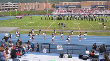 Blue Out Football Game, Benefit for Thelma Urban, Raider Band, Sports Stadium, Tamaqua, 9-4-2015 (229)