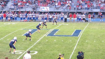 Blue Out Football Game, Benefit for Thelma Urban, Raider Band, Sports Stadium, Tamaqua, 9-4-2015 (301)